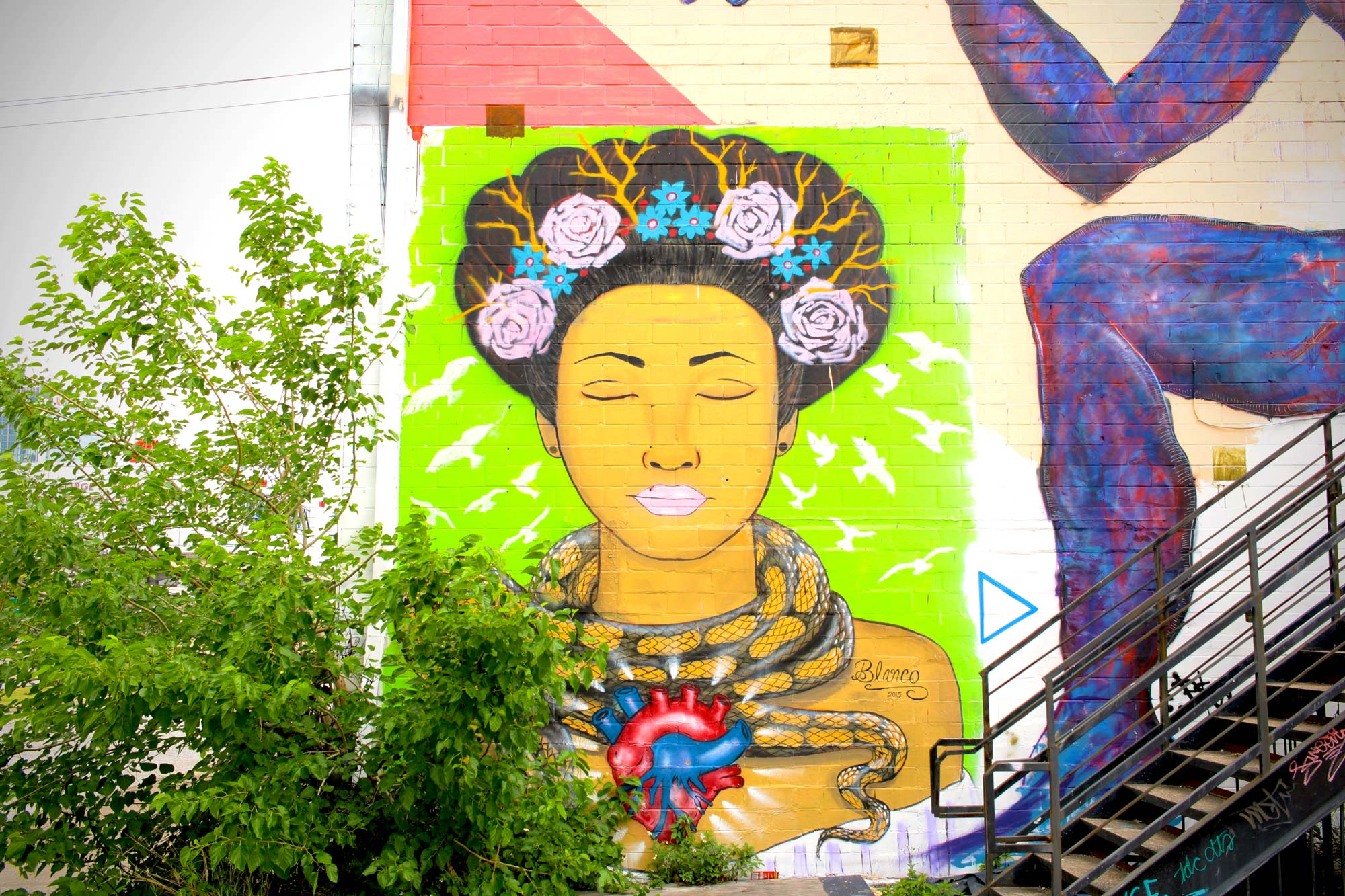 East downtown Houston street art at peace